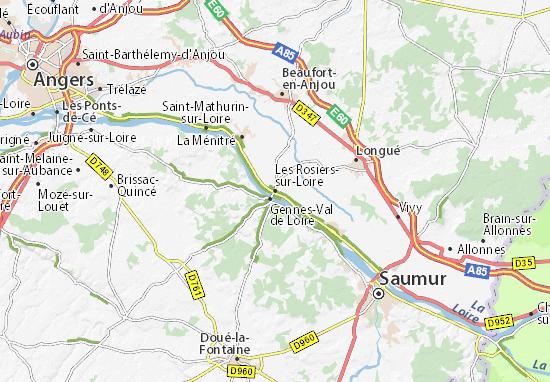 Carte-Plan Les Rosiers-sur-Loire