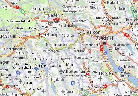 Carte-Plan Bremgarten