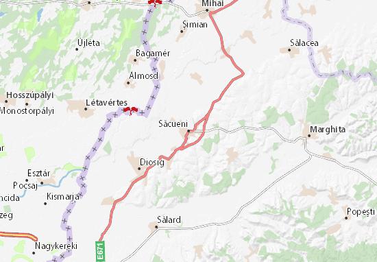 Săcueni Map