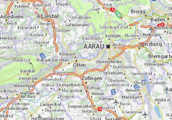 Karte Stadtplan Dulliken
