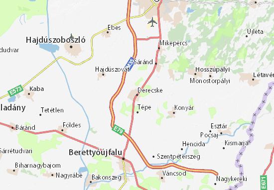 Mapas-Planos Derecske