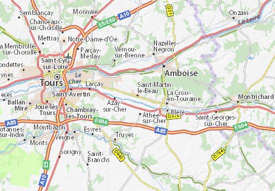 Mappe-Piantine Saint-Martin-le-Beau