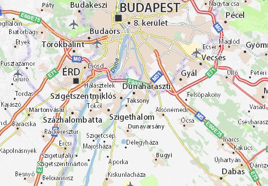 Dunaharaszti Map