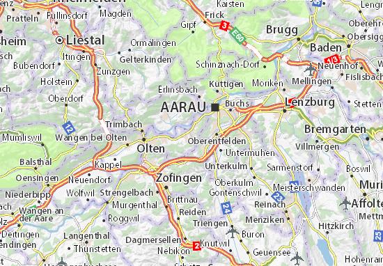 Karte Stadtplan Gretzenbach