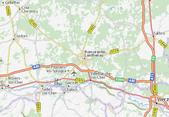 Carte-Plan Romorantin-Lanthenay