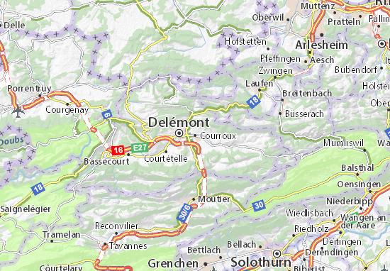 Karte Stadtplan Courroux