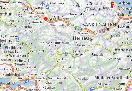 Kaart Plattegrond Mogelsberg