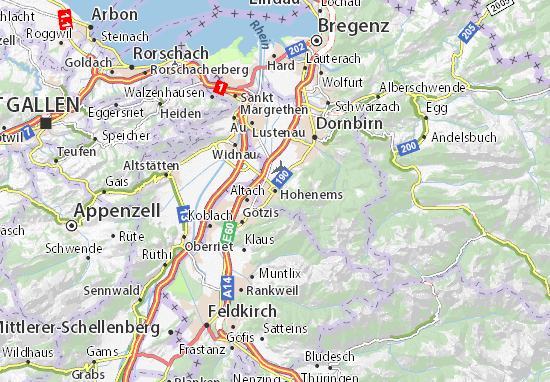 Hohenems Map