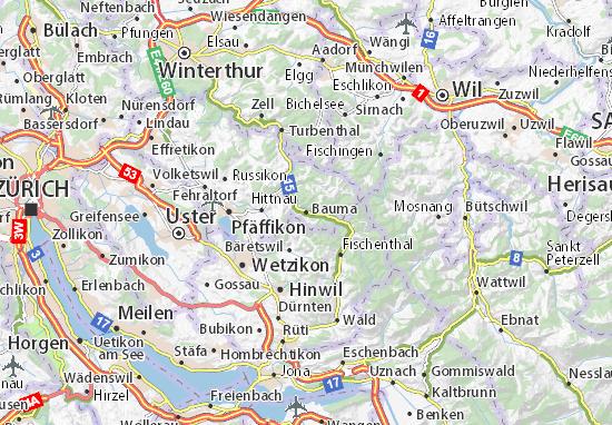 Karte Stadtplan Bauma