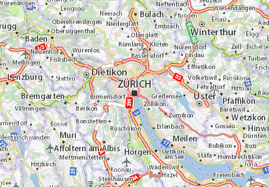 Carte-Plan Zürich