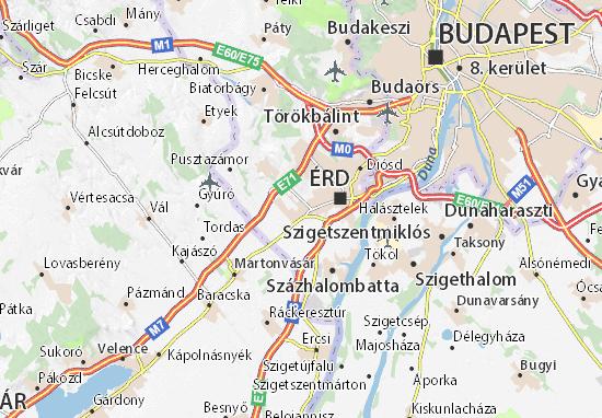 Tárnok Map