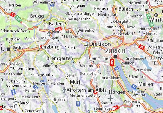 Mapas-Planos Rudolfstetten