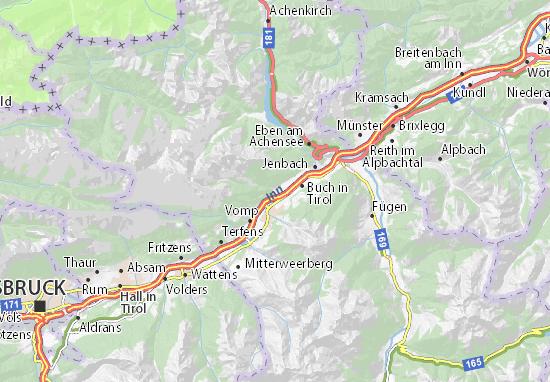 Karte Tirol.Karte Stadtplan Stans Viamichelin