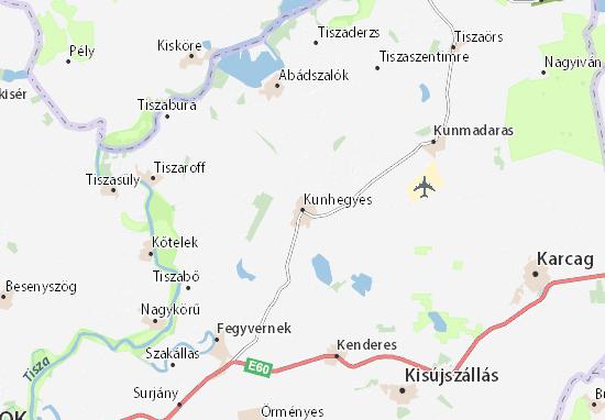 Kunhegyes Map