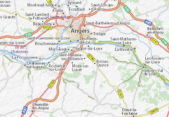 Mapas-Planos Saint-Melaine-sur-Aubance
