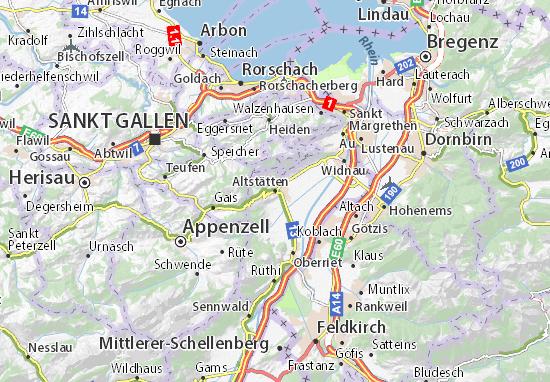 Karte Stadtplan Altstätten
