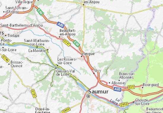 Kaart Plattegrond Longué