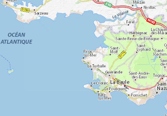 Mapa Plano Piriac-sur-Mer