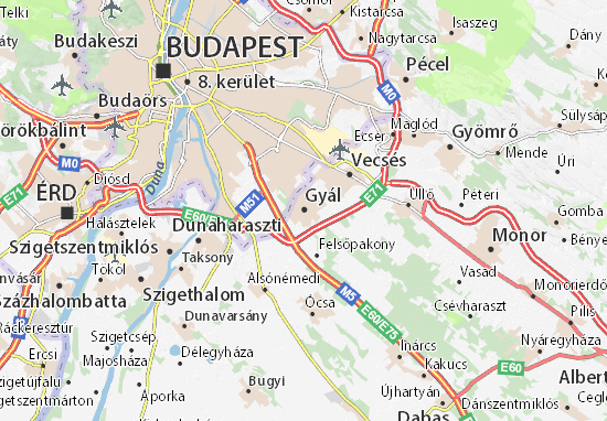Karte Stadtplan Gyál