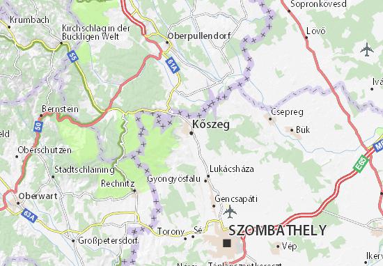 Kőszeg Map