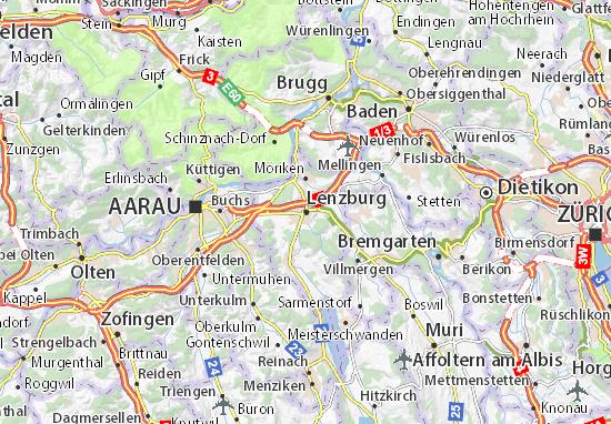 Carte-Plan Lenzburg