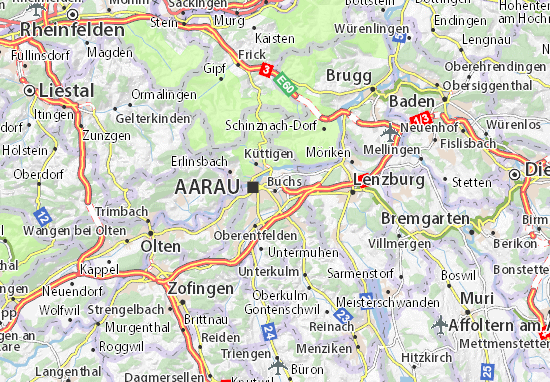 Carte-Plan Buchs