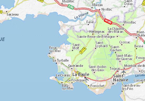 Karte Stadtplan Saint-Molf