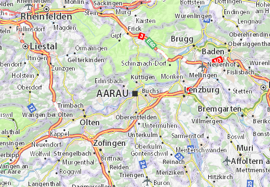 Aarau Map | Switzerland Google Satellite Maps