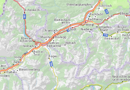 Carte-Plan Alpbach