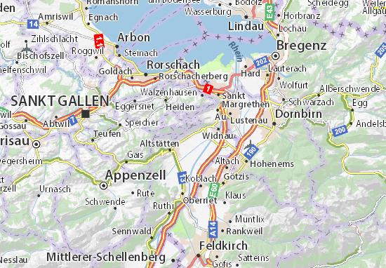 Karte Stadtplan Rebstein