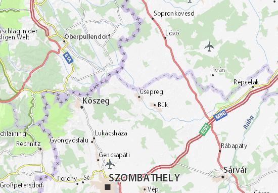 Karte Stadtplan Csepreg