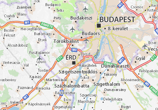 Kaart Plattegrond Diósd