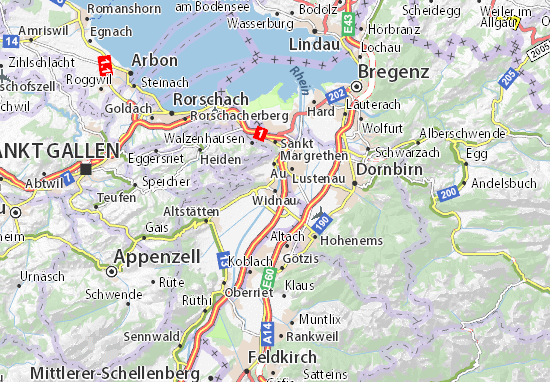 Widnau Map