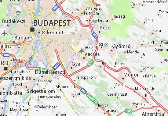 Karte Stadtplan Vecsés