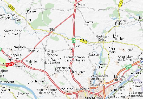 Kaart Plattegrond Héric