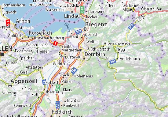 Karte Stadtplan Dornbirn