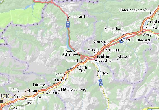 Carte-Plan Eben am Achensee