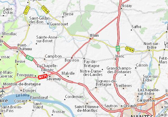 Carte-Plan Fay-de-Bretagne