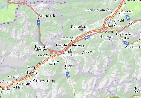 Karte Stadtplan Reith im Alpbachtal