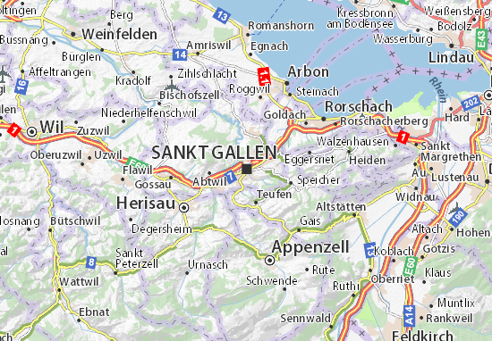 Carte-Plan Sankt Gallen