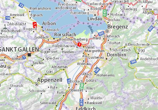 Berneck Map