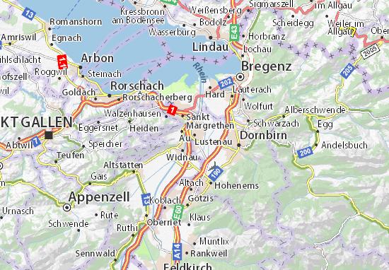 Mapa Plano Lustenau