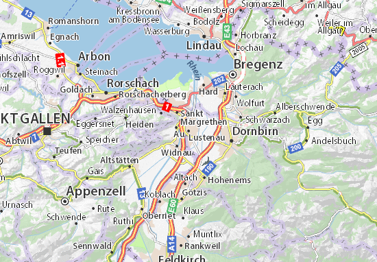 Karte Stadtplan Lustenau
