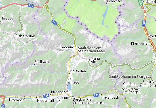Mapas-Planos Saalfelden am Steinernen Meer