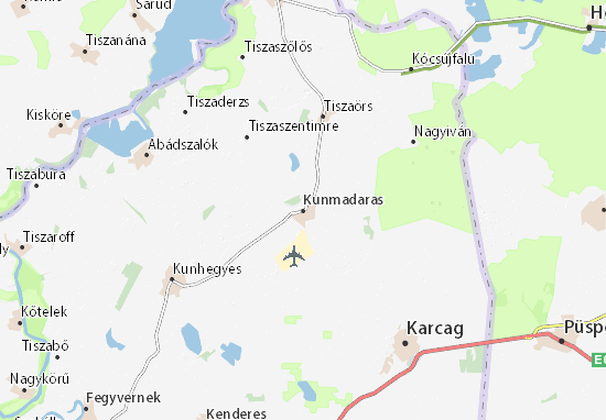 Mappe-Piantine Kunmadaras
