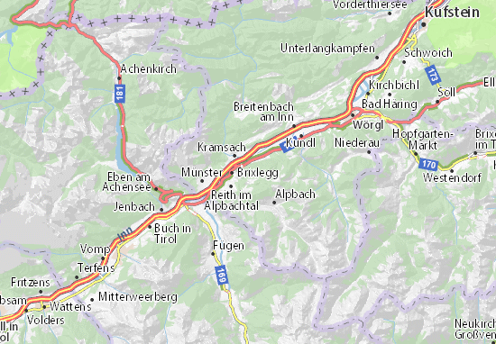 Karte Stadtplan Rattenberg