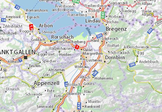 Karte Stadtplan Au