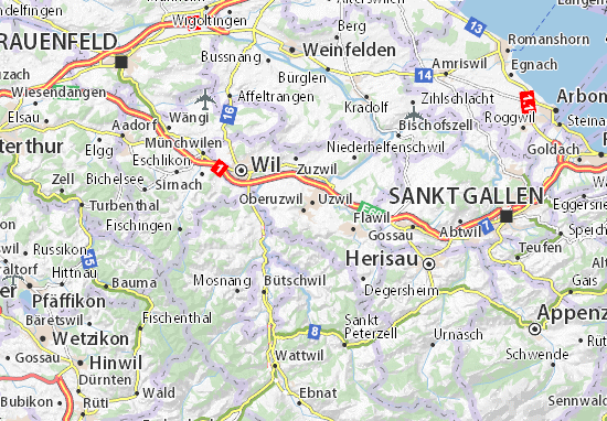 Oberuzwil Map