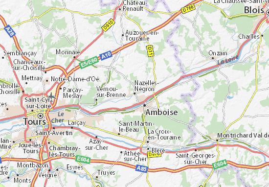Mapa Plano Nazelles-Négron