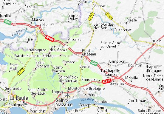 Mapa Plano Pont-Château